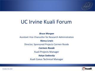 UC Irvine Kuali Forum