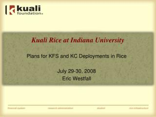 Kuali Rice at Indiana University