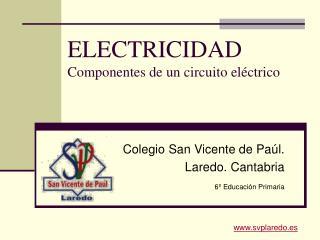 ELECTRICIDAD Componentes de un circuito el ctrico