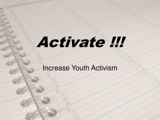 Activate !!!