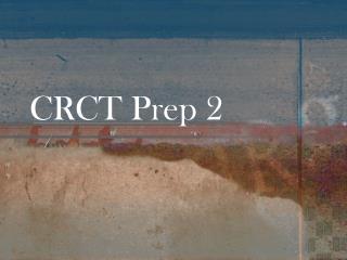 CRCT Prep 2