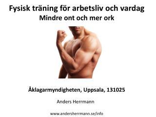 Fysisk träning för arbetsliv och vardag Mindre ont och mer ork