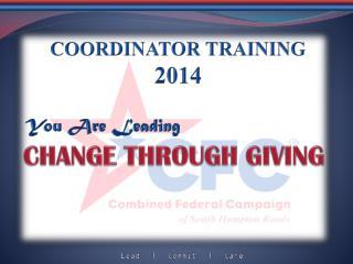 COORDINATOR TRAINING 2014
