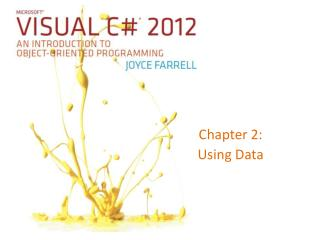 Chapter 2: Using Data
