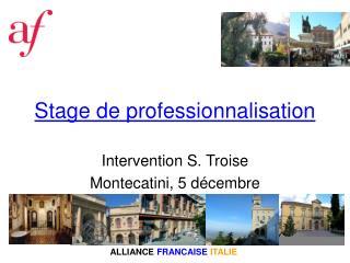 Stage de professionnalisation