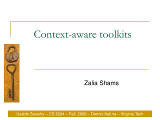 Context-aware toolkits