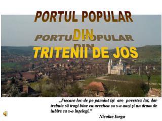 PORTUL POPULAR  DIN  TRITENII DE JOS