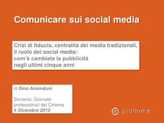 Comunicare sui social media