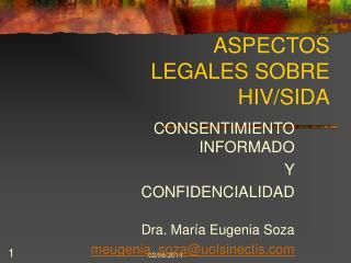 ASPECTOS LEGALES SOBRE HIV