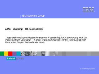 AJAX – JavaScript - Tab Page Example