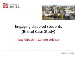 Engaging disabled students (Bristol Case Study)