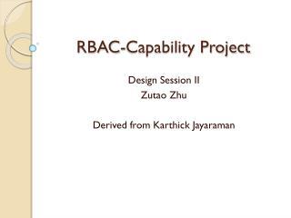 RBAC-Capability Project