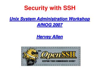 Security with SSH
