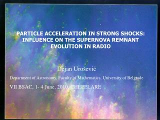 PARTICLE ACCELERATION IN STRONG SHOCKS: INFLUENCE ON THE SUPERNOVA REMNANT EVOLUTION IN RADIO