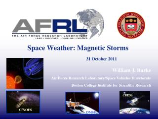 Space Weather: Magnetic Storms  31 October 2011