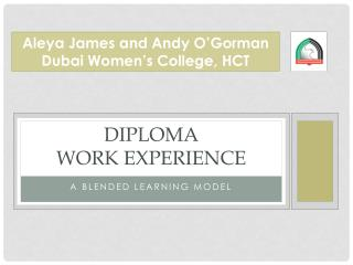 Diploma  Work Experience