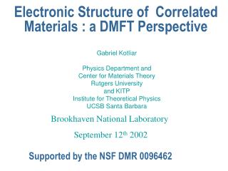 Electronic Structure of  Correlated Materials : a DMFT Perspective