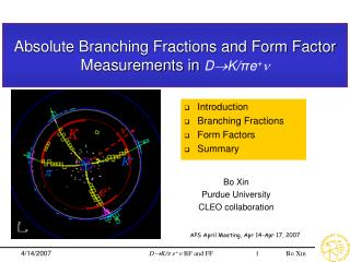 Absolute Branching Fractions and Form Factor  Measurements in  DK/ π e + 
