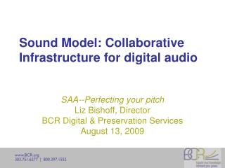Sound Model: Collaborative Infrastructure for digital audio