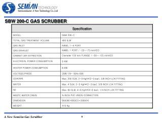 SBW 200-C GAS SCRUBBER