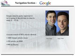 Navigation Section -