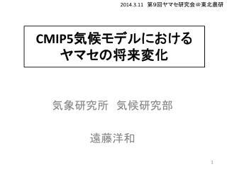 CMIP5 気候モデルにおける ヤマセの将来変化