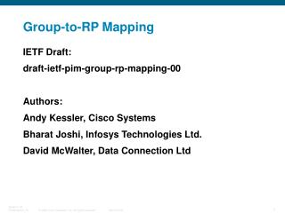 Group-to-RP Mapping