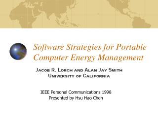 Software Strategies for Portable Computer Energy Management