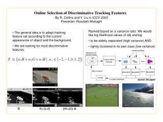 Online Selection of Discriminative Tracking Features
