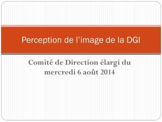 Perception de l�image de la DGI