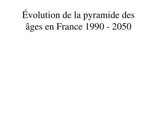 Évolution de la pyramide des âges en France 1990 - 2050