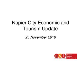 Napier City Economic and Tourism Update