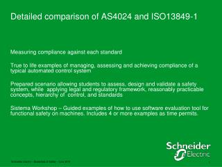 Detailed comparison of AS4024 and ISO13849-1