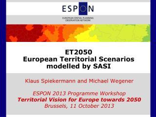 ET2050 European Territorial Scenarios modelled by SASI