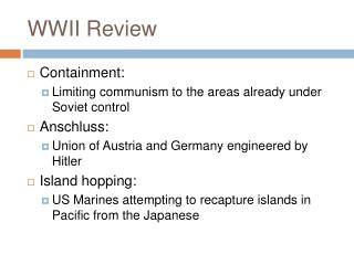 WWII Review