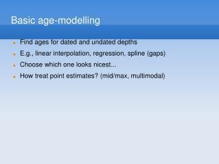 Basic age-modelling