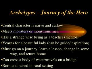 Archetypes – Journey of the Hero