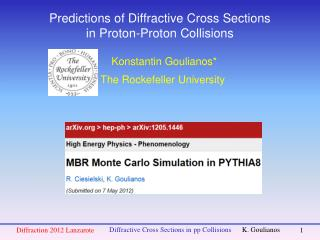 Predictions of Diffractive Cross Sections in Proton-Proton Collisions
