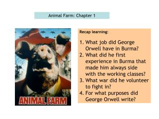 Animal Farm: Chapter 1