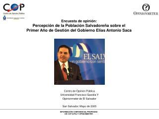 Centro de Opinión Pública Universidad Francisco Gavidia Y Opinionmeter de El Salvador
