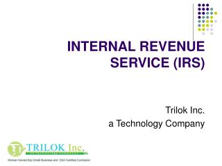 INTERNAL REVENUE SERVICE IRS
