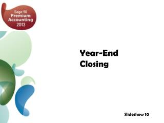 Year-End Closing