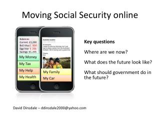 Moving Social Security online