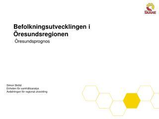 Befolkningsutvecklingen i Öresundsregionen