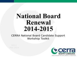 National Board Renewal 2014-2015