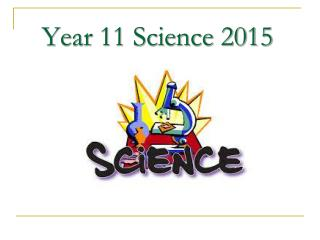 Year 11 Science 2015