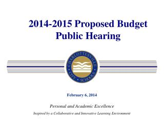 2014-2015 Proposed Budget Public Hearing