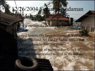 12/26/2004 Sumatra-Andaman Islands Earthquake