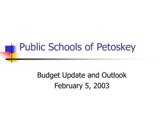Public Schools of Petoskey