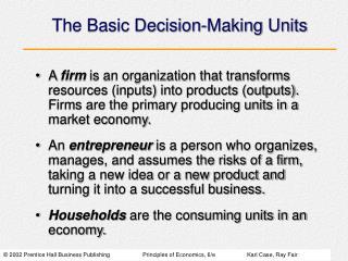 The Basic Decision-Making Units
